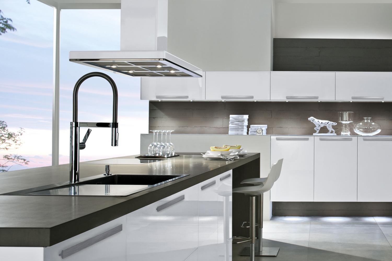 Edle Küche aus Glas