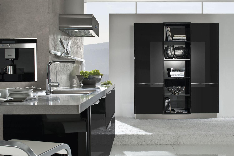 Designerküche mit Elementen aus Glas